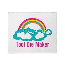 Raibow Cloud Tool Die Maker Throw Blanket