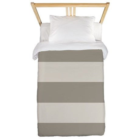Tan Stripes Twin Duvet