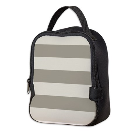Tan Stripes Neoprene Lunch Bag
