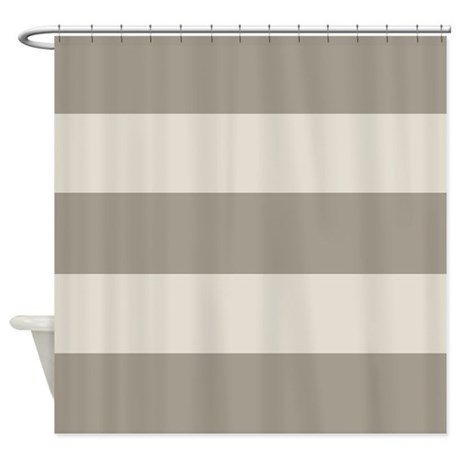 Tan Stripes Shower Curtain