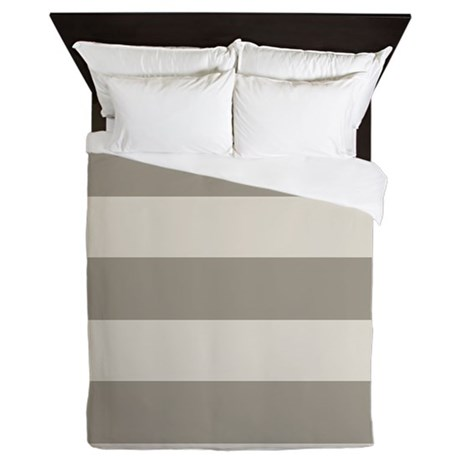 Tan Stripes Queen Duvet