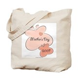 Mother's Day Pink Butterfly Tote Bag