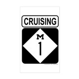 Cruising 1 (Woodward) Rectangle Decal