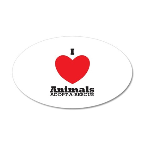 I Love Animals Adopt A Rescue Wall Decal