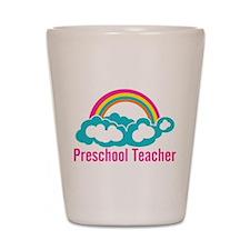 Preschool Teacher Rainbow Cloud Shot Glass