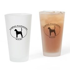 ENGLISH FOXHOUNDS RULE Drinking Glass