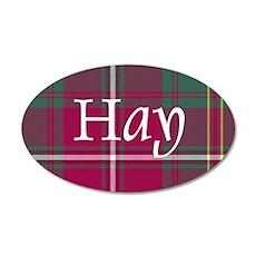 Tartan - Hay 35x21 Oval Wall Decal