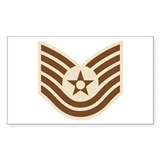 Air Force Tech Sgt Rectangle Decal