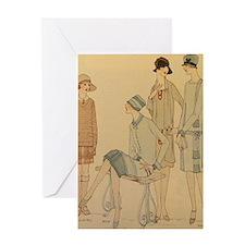 1920s Fall Fashion Greeting Cards