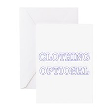 Clothing Optional Greeting Cards (Pk of 10)
