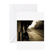 Cute Railroad track Greeting Card