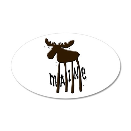 Maine Moose 20x12 Oval Wall Decal