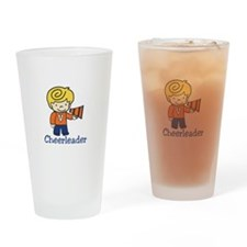 Cheerleader Drinking Glass
