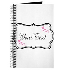 Personalizable Pink Hearts in Black Journal