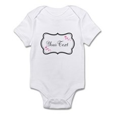 Personalizable Pink Hearts in Black Body Suit