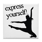 Express Yourself Tile Coaster