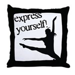 Express Yourself Throw Pillow