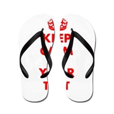 Keep Calm personalize Flip Flops