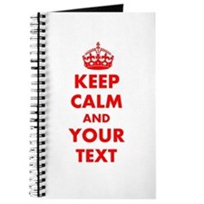 Keep Calm personalize Journal