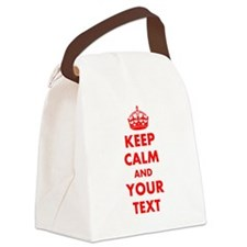 Keep Calm personalize Canvas Lunch Bag