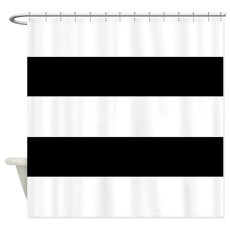 Striped Black and White Shower Curtain
