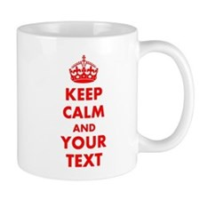Personalized Keep Calm and carry on Mug