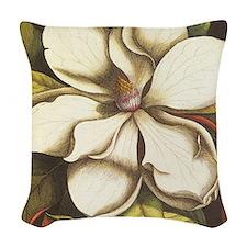 modern vintage fall magnolia flower Woven Throw Pi