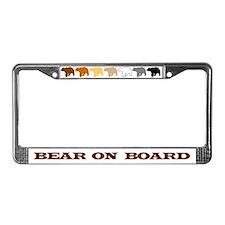 Cute Bear pride License Plate Frame