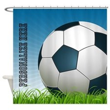 Soccer Personalizable Shower Curtain