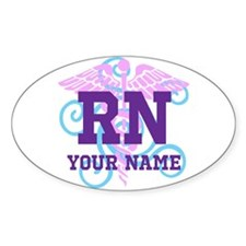 Rn Swirl With Personalized Name Decal