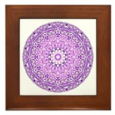 """Purple Lotus Mandala"" Framed Tile"