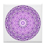 """Purple Lotus Mandala"" Tile Coaster"
