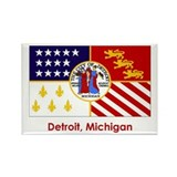 Detroit MI Flag Rectangle Magnet