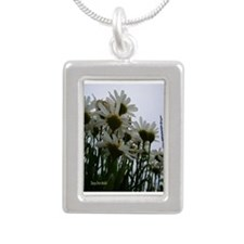 Pushing Daisies Silver Portrait Necklace