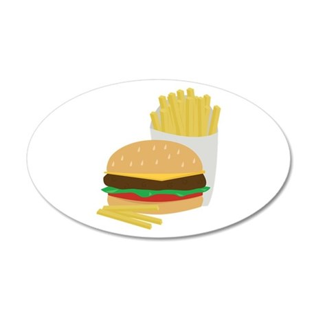 Burger and Fries Wall Decal