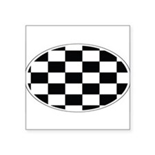 "Unique Race flags Square Sticker 3"" x 3"""
