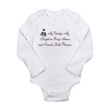 Cool Army girls Long Sleeve Infant Bodysuit
