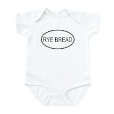 RYE BREAD (oval) Infant Bodysuit