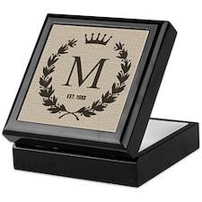 Custom Initial Logo Monogrammed Keepsake Box