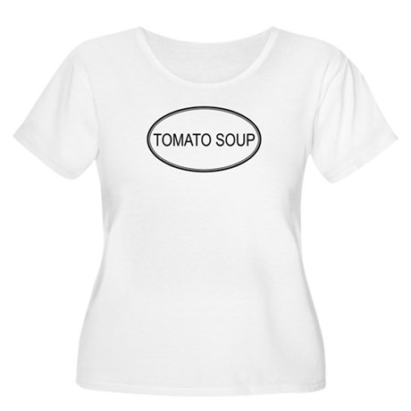 TOMATO SOUP (oval) Women's Plus Size Scoop Neck T-