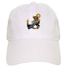 Navy Mermaid Tattoo Baseball Cap