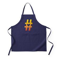 Vibrant Hashtag Heart Apron (dark)