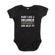 Drummer Beat It Baby Bodysuit