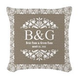 Bride and groom Throw Pillows
