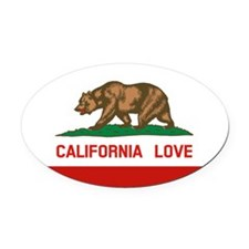 Unique California Oval Car Magnet