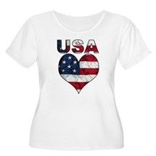 USA Heart-Americana T-Shirt