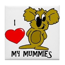 I Love My Mummies Koala Tile Coaster