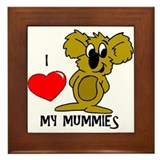 I Love My Mummies Koala Framed Tile