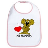 I Love My Mummies Koala Bib
