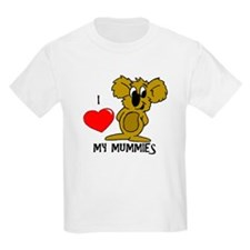 I Love My Mummies Koala T-Shirt
